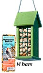 Going Green Peanut Feeder with Woodpecker Seed Bars Package