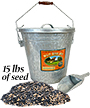 Woodlink Rustic Farmhouse Seed Container & 15 lbs. Seed
