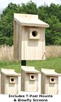 "Stokes Bluebird House Package with ""T"" Post Adapters"