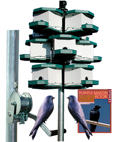 Heritage Farms Quad Pod Purple Martin House Package, 3 Pods
