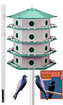 Heath 24-Room Deluxe Purple Martin House Package