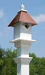 Classic Bluebird House & Mounting Post, Copper Colored Roof