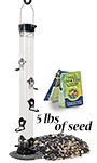 Droll Yankees Onyx Seed Feeder and Tray Package