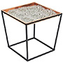 Achla Arne Copper Planter Tray with Clear Fire Glass