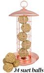 Copper Colored Suet Ball Feeder w/Fruit & Nut Suet Balls Kit