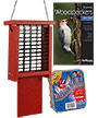 BestNest Red Going Green Suet Feeder with Tail Prop Kit