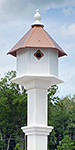 Gardenia House & Decorative Mounting Post Kit, Copper Roof