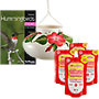 Lone Wolf Ceramic Hummingbird Feeder with Nectar and Book