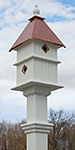 Holly Bird House and Decorative Mounting Post Kit, Copper