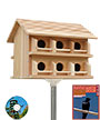 Heath Cedar Round Entry Purple Martin House Package
