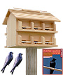 Heath Cedar Crescent Entry Purple Martin House Package