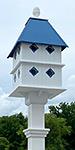 Manor Bird House and Decorative Mounting Post Kit, Cobalt