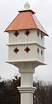Manor Bird House and Decorative Mounting Post Kit, Copper