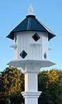 Wing & A Prayer Castle Bird House with White Mounting Post
