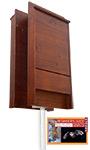 BestNest Premium Stained Double Bat House Kit, 200 bats