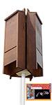 BestNest Premium Stained Triple Bat House Kit, 195 bats