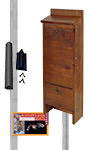 BestNest Premium Stained Bat House Kit with Pole, 65 bats