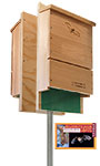 BestNest Double Single-Celled Bat House Package, 200 Bats