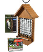 BestNest Large Seed Cake Chalet w/Woodpecker Seed Blocks Kit