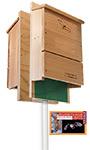 BestNest Double Triple-Celled Bat House Package, 600 Bats