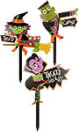 Whimsical Halloween Yard Stakes, Set of 3
