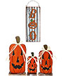 Slender Jack-O-Lanterns with LEDs and Wall Art Package