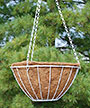 "CobraCo Wire Hanging Grow Basket, White, 14"" dia."