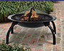 """DeckMate Steel Quick Collapse Fire Bowl, 25"""" dia."""