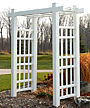 "Dura-Trel Windsor Arbor, White, 85""H"
