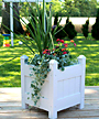 "Dura-Trel Small Planter Box, White, 16""L"