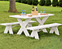 Dura-Trel Picnic Table w/ Unattached Benches, 6'