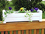 """Dura-Trel Decorative Planter Box, White, 28""""L"""