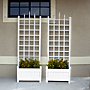 "Dura-Trel Camelot Planter Trellises, White, 80""H, Pack of 2"