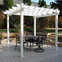 Dura-Trel Kingston Pergola, White, 7' x 7'
