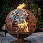 "Esschert Design Steel Wildlife Fire Sphere, Large, 23"" dia."