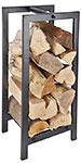 Esschert Design Fire Log Storage Rack, Black