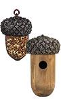 Esschert Acorn Bird House and Mesh Bird Feeder Package