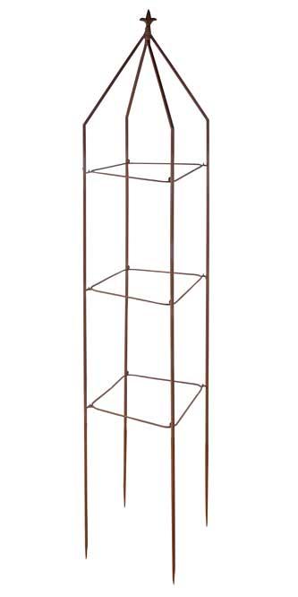 Esschert Design Folding Square Fleur-De-Lis Obelisk, Rust at ...