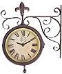 Esschert Design Dual Faced Plastic Clock and Thermometer