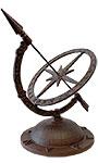 Esschert Design Cast Iron Armillary Sundial with Starburst