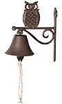 Esschert Design Cast Iron Owl Doorbell, Brown