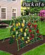 "Gardeneer Vertical Trellis Kits, Green, 45.25""H, Pack of 6"
