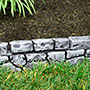 "Gardeneer Stonewall Faux Stone Border Edge, Grey, 117""Lx6""H"