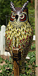 Gardeneer Natural Enemy Inflatable Owl Scarecrows, Pack of 3