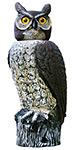 """Gardeneer Solar Scarecrow Owl with Rotating Head, 18"""""""
