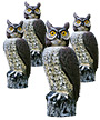 Gardeneer Solar Scarecrow Owls with Rotating Heads, 4 Pack