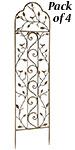 "Gardman Nature Garden Trellises, Aged Bronze, 58"", Pack of 4"