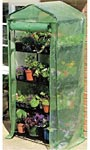 "Gardman Four Tier Mini Greenhouse & Cover, 63""H"