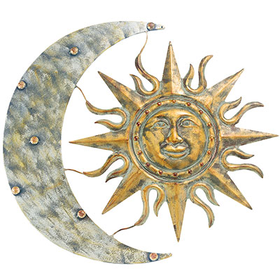 Gardman Aztec Sun And Moon Wall Art Aged Gold 26 W X 24 H At Bestnest