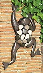 "Gardman Climbing Frog Wall Art, Antique, 15""W x 19""H"